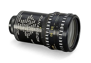 "VIEWFINDER, Panavision. Inscriptions with filmtitles like ""The ox"", ""Hurricane"", ""..."