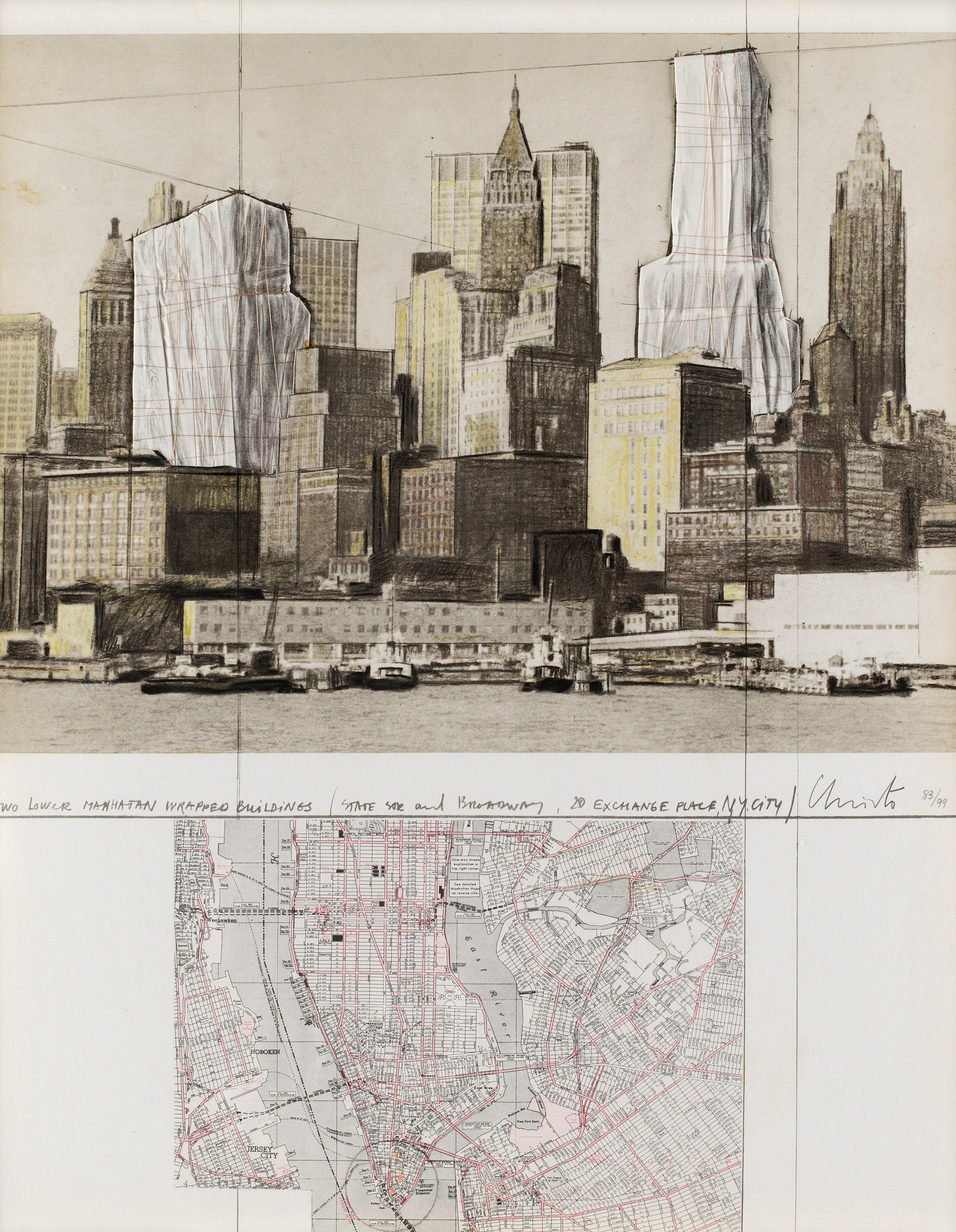 Christo Amp Jeanne Claude Quot Two Lower Manhattan Wrapped