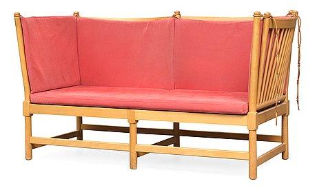 "A borge mogensen beech ""tremme"" sofa for fritz hansen, denmark 1965."
