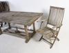 TrÄdgÅrdsbord samt stolar, 6 st. märkt gloster bristol england.