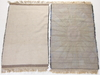 Mattor, 2 st, rya, efter mönster av skerfe nilsson. 1960-tal. ca 150 x 90 resp 150 x 95.