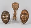 Masker och ceremonifÖremÅl, 3 delar.