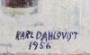 Dahlqvist, karl. olja på pannå. sign o dat 1956.