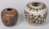 Oljekrus, 2 st, stengods, kina. möjligen 1400-tal, sawankalok.