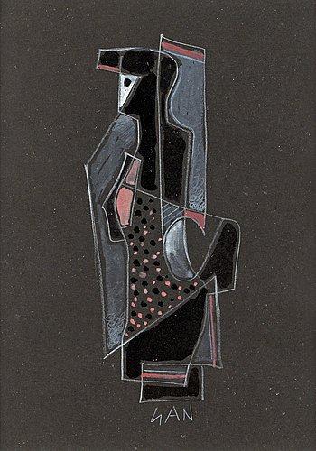 Gösta adrian-nilsson, composition with figure.