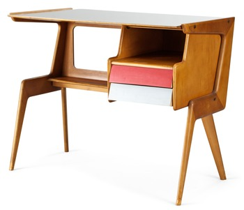 4. An Italian desk, attributed to Studio Dassi, 1950's.