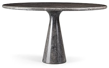 12. An Angelo Mangiarotti grey marble table, 'M 1' by Skipper, Italy, circa 1972.