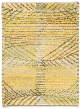 "10. MATTA. ""Marina, gul"". Rya. 211 x 156 cm. Signerad AB MMF BN (AB Märta Måås-Fjetterström, Barbro Nilsson)."