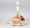 Lampfot, porslin. gdr 1900-tal.
