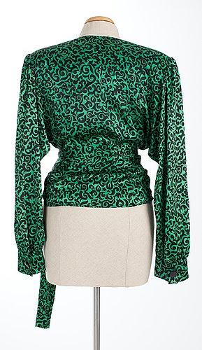 An yves saint laurent blouse.