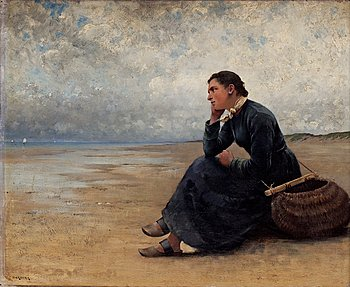 58. AUGUST HAGBORG, Waiting by the ocean.