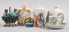Parti diverse, 7 delar. bl.a. flaskor i porslin