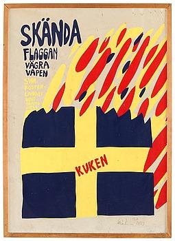"""300. Carl Johan De Geer, """"Skända flaggan""""."""