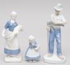 Figuriner, 3 st. porslin.