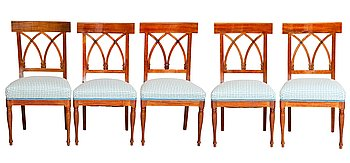 3. A SET OF FIVE CHAIRS.