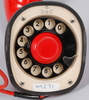 "Telefon, ericsson. ""kobra"". 1950-tal."