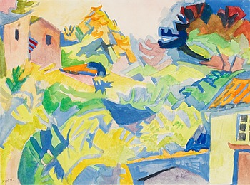 308. André Lhote, Landscape with houses.