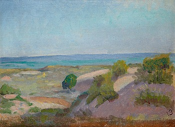 "38. IVAN AGUÉLI, ""Spanskt landskap"" (Spanish landscape)."