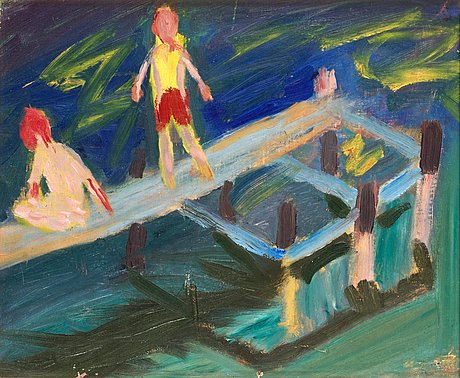 Ragnar sandberg, boys at the dock.