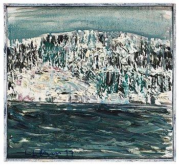 356. Lars Lerin, Vinter, skärjen.