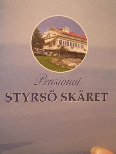 Presentkort, till pensionet styrsö skäret i göteborgs södra skärgård. skänkt av countryside hotels sweden.