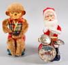 "Elektrifierade dockor, 2 st. ""happy santa"", samt ""monkey""."