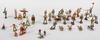 Parti miniatyrfigurer, 37 delar, bl.a. elastolin, tyskland.