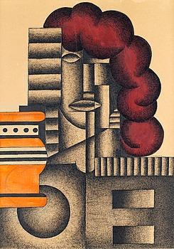 "31. Otto G Carlsund, ""Arkitektonisk komposition"" or ""Fabriken 1931""."