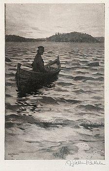 444. Akseli Gallen-Kallela, ARRIVAL ON THE SHORE.