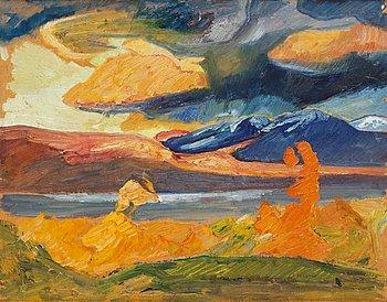 """16. Helmer Osslund, """"Hösttavla från Abisko"""" (Autumn painting from Abisko)."""