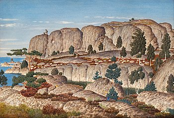 """29. Oskar Bergman, """"Motiv från Rökorna"""" (Stockholm archipelago)."""