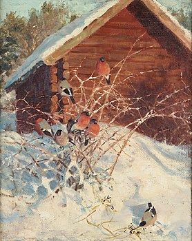 626. Thure Wallner, Vintermotiv med domherrar.