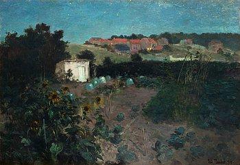204. Frits Thaulow, Evening landscape at Pas de Calais.