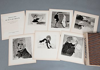 469. Helene Schjerfbeck, FOLDER WITH REPRODUCTIONS. 48 PCS.