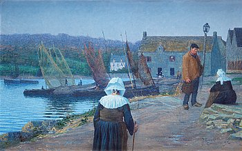 6. PER EWERT, The harbour in Concarneau, Brittany.