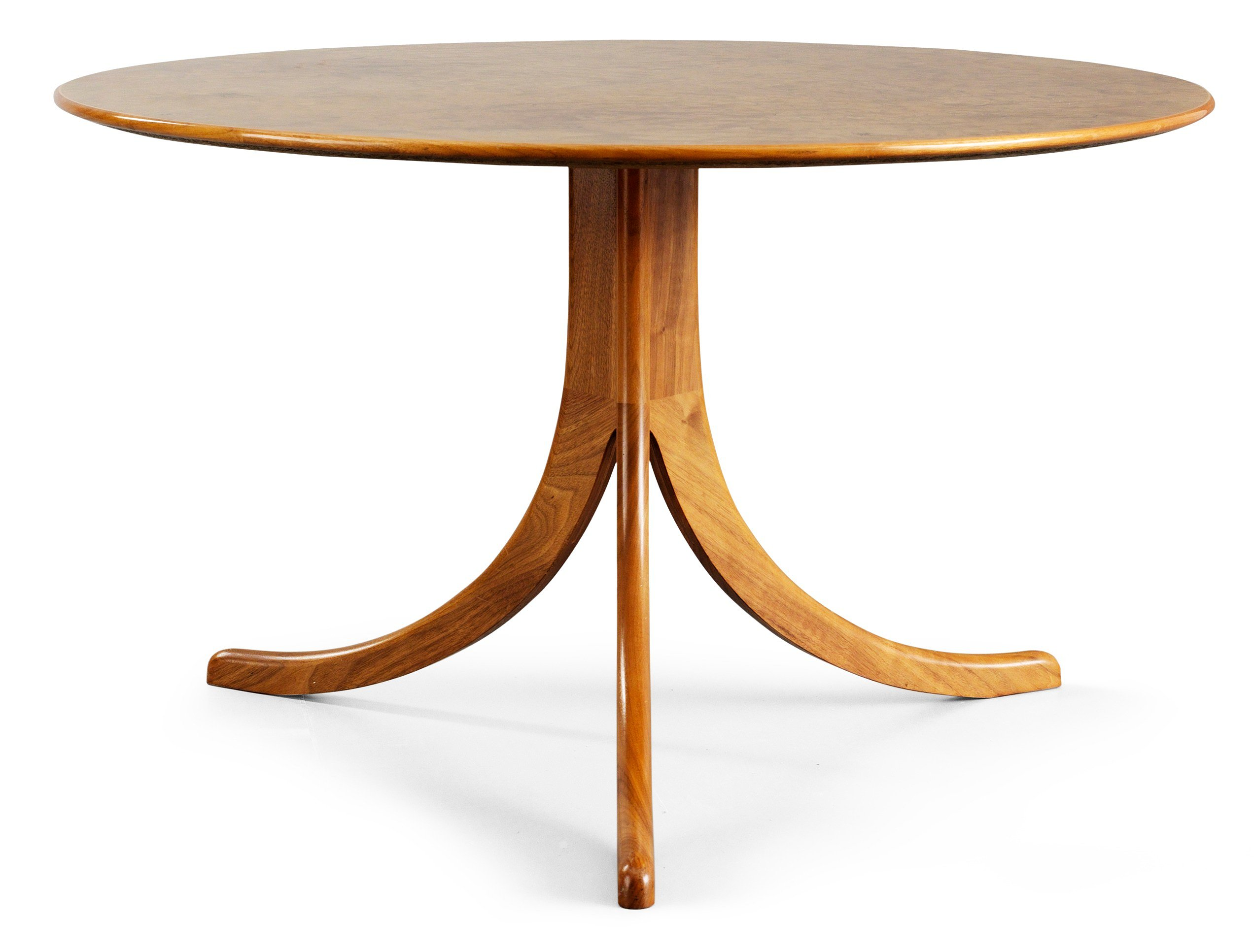 A Josef Frank burrwood and walnut sofa table, model 1020 Bukowskis