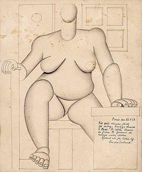 32. Otto G Carlsund, Sitting cubist woman.