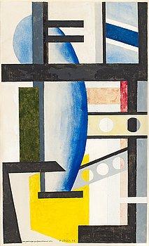"""34. Otto G Carlsund, """"Komposition""""."""