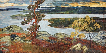 "89. HELMER OSSLUND, ""Gråväder"" (Grey weather)."