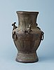 A bronze vase, presumably qing dynasty (1644-1911).