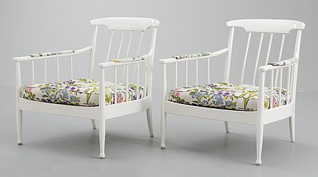 A pair of kerstin hörlin-holmquist 'skrindan' easy chairs, ope möbler.