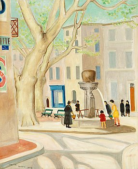 10. Einar Jolin, The square in Cassis.