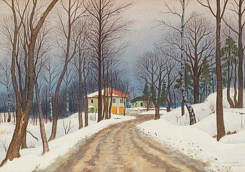 30. Oskar Bergman, Winter scene.