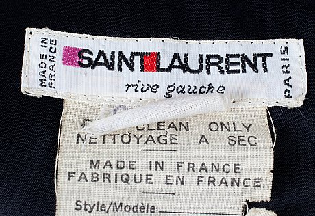 An yves saint laurent jacket, from the russian collection.