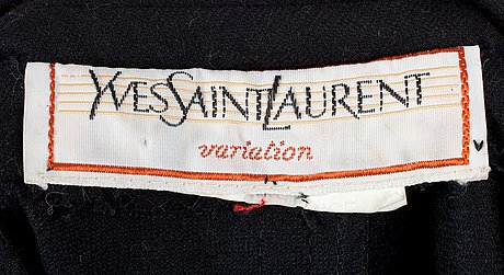 A two-piece yves saint laurent costume.