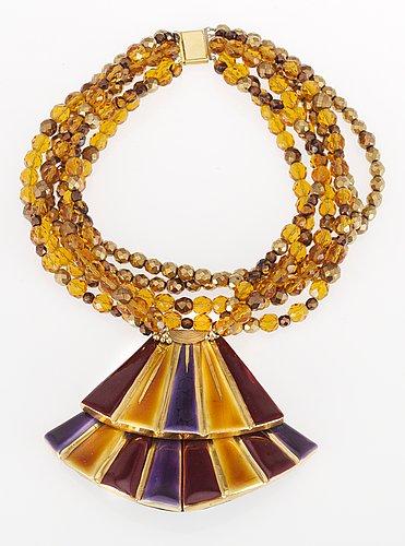 A 1980's yves saint laurent necklace.