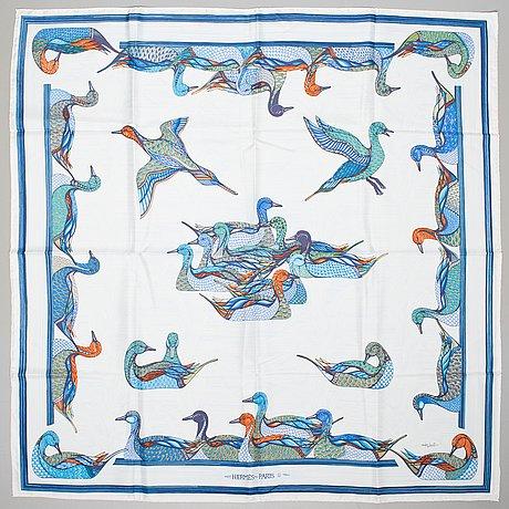 A hermès silk scarf.