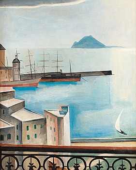 """8. Ewald Dahlskog, """"Hamnen i Pozzuoli""""."""