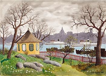 27. Oskar Bergman, View from Waldermarsudde , Stockholm.