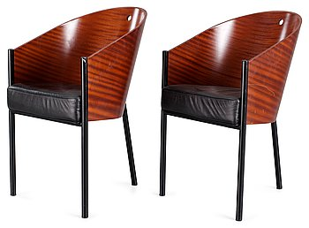 13. A pair of Philippe Starck 'Costes' armchairs, by Aleph, Driade, Italy.